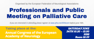 Professionals and Public meeting on palliative care